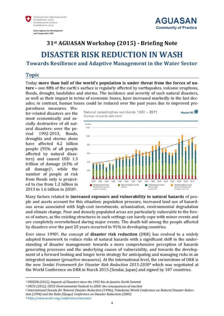 Book Cover: Disaster Risk Reduction in WASH