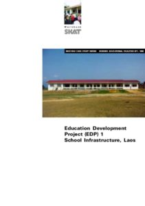 Book Cover: Education Development Project (EDP) 1, School Infrastructure, Laos