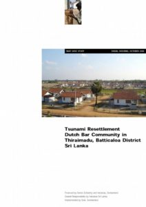 Book Cover: Tsunami Resettlement in Sri Lanka