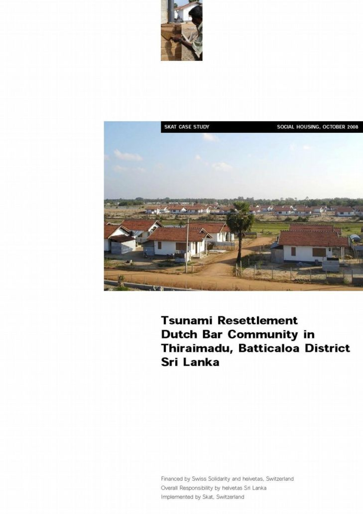 Book Cover: Tsunami Resettlement in Sri Lanka