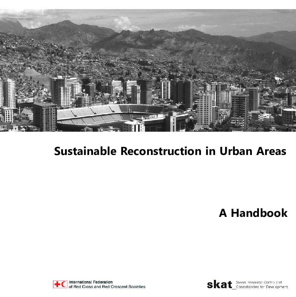 Book Cover: Sustainable Reconstruction in Urban Areas