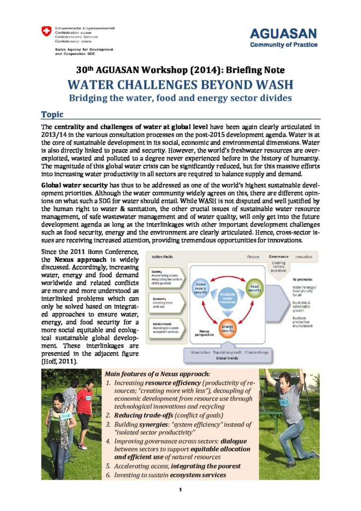 Book Cover: Water Challenges Beyond WASH