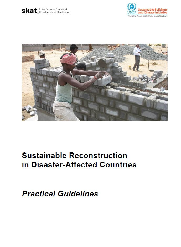 Book Cover: Sustainable Reconstruction in Disaster-Affected Countries
