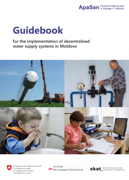 Book Cover: Guidebook for the implementation of decentralised water supply systems in Moldova