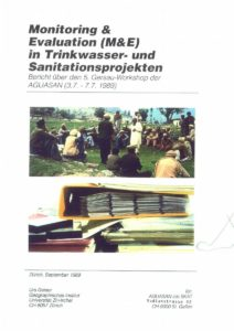 Book Cover: Monitoring & Evaluation (M&E) in Trinkwasser- und Sanitationsprojekten