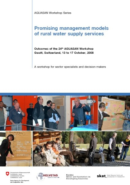 Book Cover: Promising management models of rural water supply services