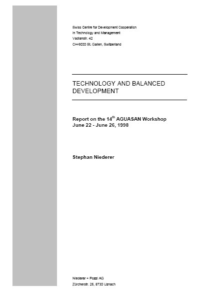 Book Cover: Technology and balanced development