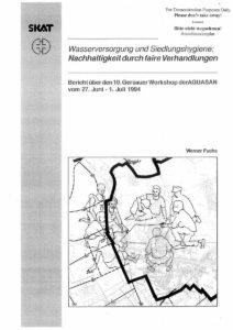 Book Cover: Wasserversorgung und Siedlungshygiene: Nachhaltigkeit durch faire Verhandlungen