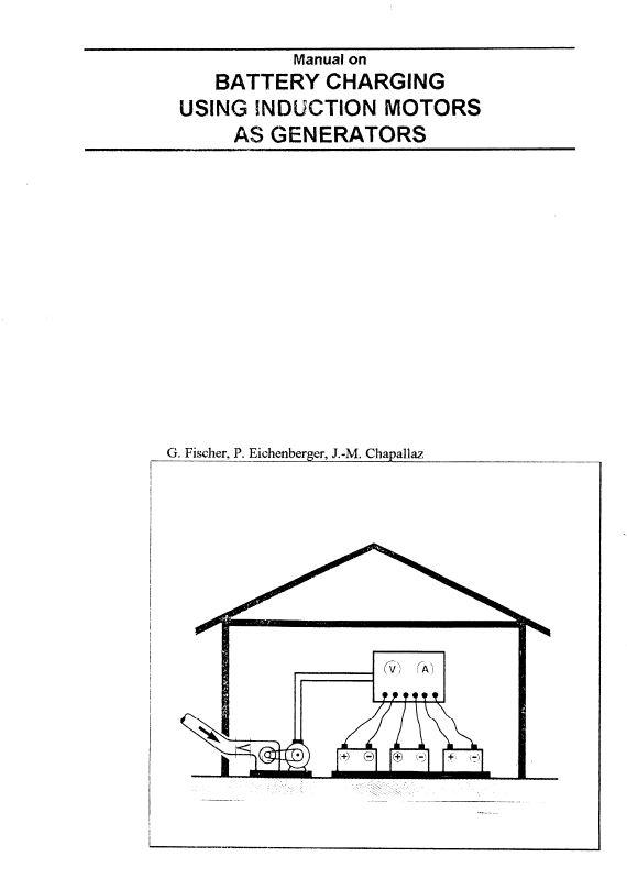 Book Cover: Manual on Battery Charging Using Induction Motors as Generators