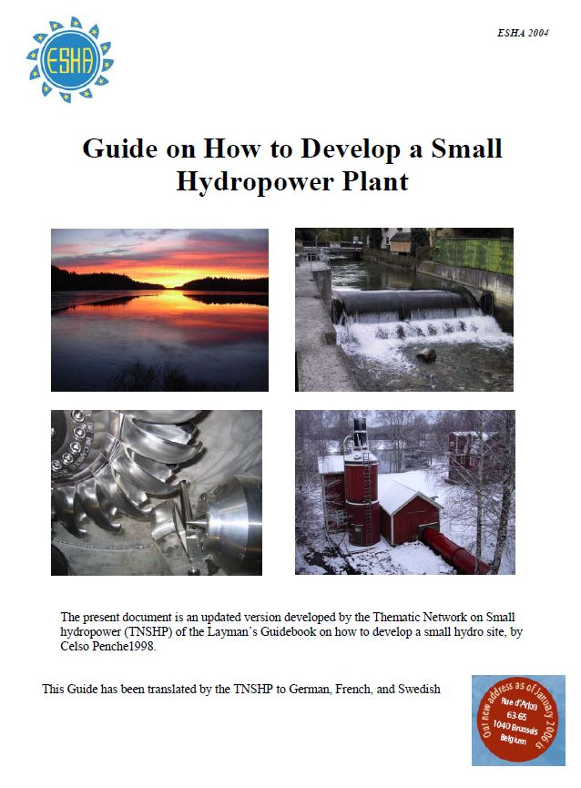 Book Cover: Guide on How to Develop a Small Hydropower Plant (Part II)