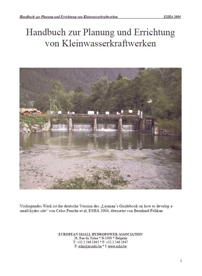 Book Cover: Handbuch zur Planung und Errichtung von Kleinwasserkraftwerken