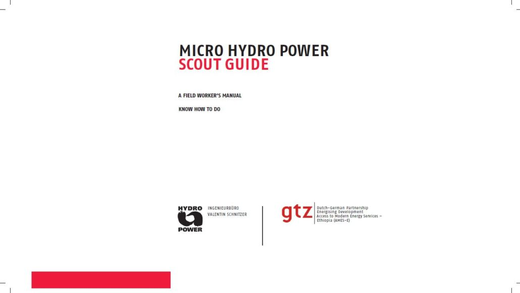 Book Cover: Micro Hydro Power-Scout Guide-A field workers manual