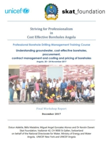 Book Cover: Striving for Professionalism in Cost Effective Boreholes Angola