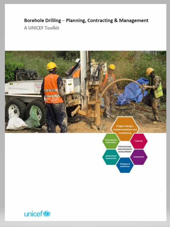 Book Cover: Borehole Drilling –Planning, Contracting and Management: A UNICEF Toolkit