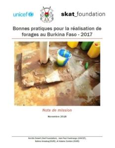 Book Cover: Bonnes pratiques pour la réalisation de forages au Burkina Faso- 2017