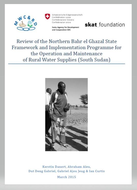 Book Cover: Review of the Northern Bahr el Ghazal State Framework and Implementation Programme for the Operation and Maintenance of Rural Water Supplies (South Sudan)
