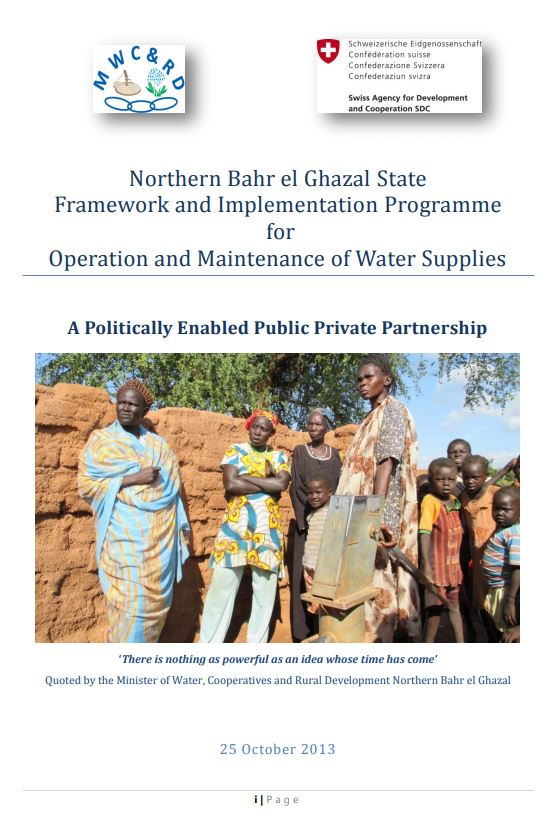 Book Cover: Framework and Implementation Programme for Operation and Maintenance of Water Supplies