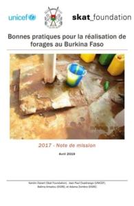 Book Cover: Bonnes pratiques pour la réalisation de forages au Burkina Faso