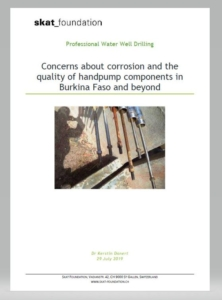 Book Cover: Concerns about corrosion and the quality of handpump components