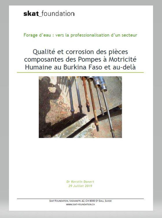 Book Cover: Qualité et corrosion des pièces composantes des Pompes à Motricité