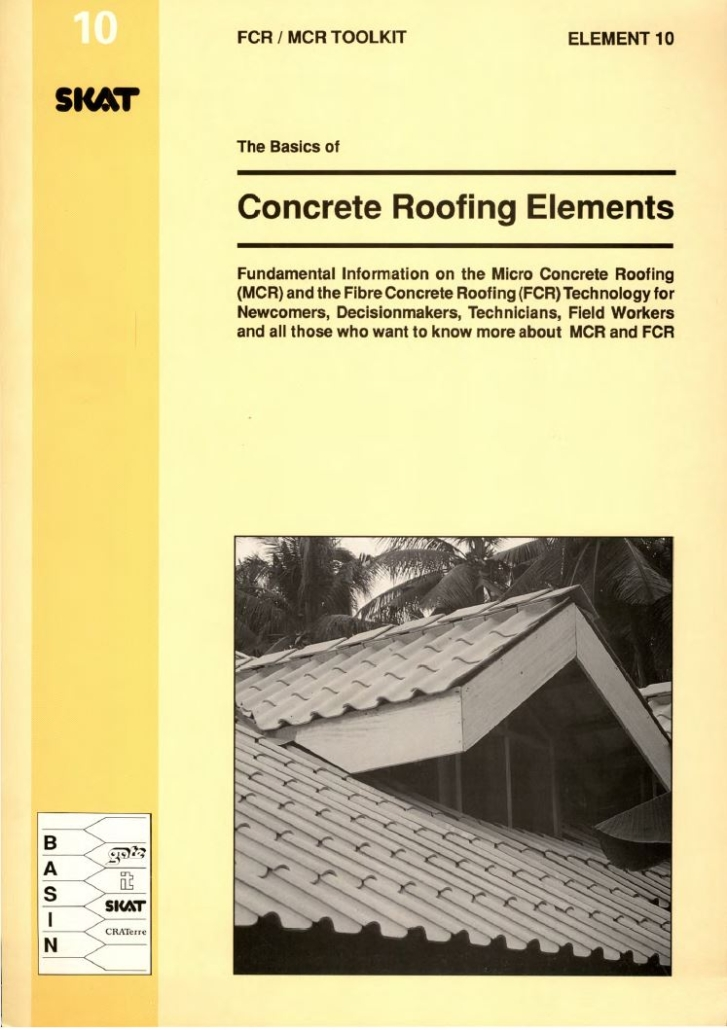 Book Cover: Concrete Roofing Elements