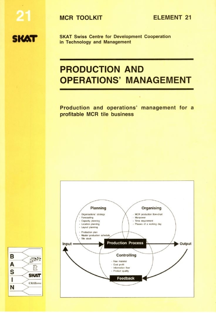 Book Cover: Production and Operations' Management